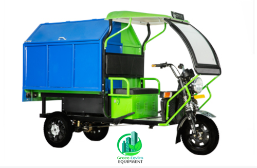 BATTERY OPERATED E-RICKSHAW GARBAGE TIPPER